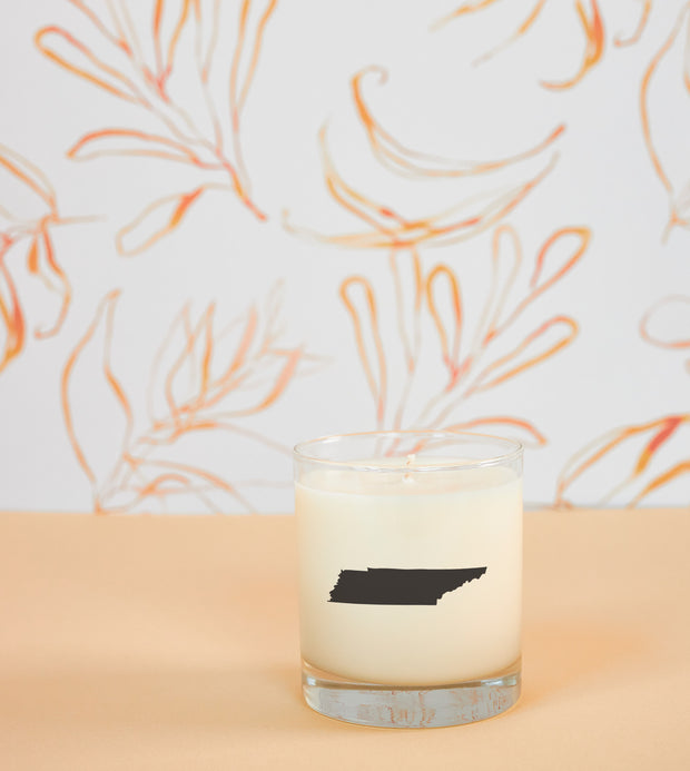 Tennessee State Soy Candle in Signature Silhouette Glass