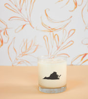 Virginia State Soy Candle in Signature Silhouette Glass