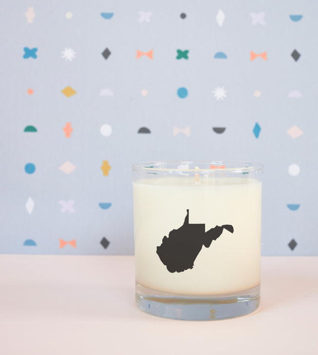 West Virginia State Soy Candle in Signature Silhouette Glass