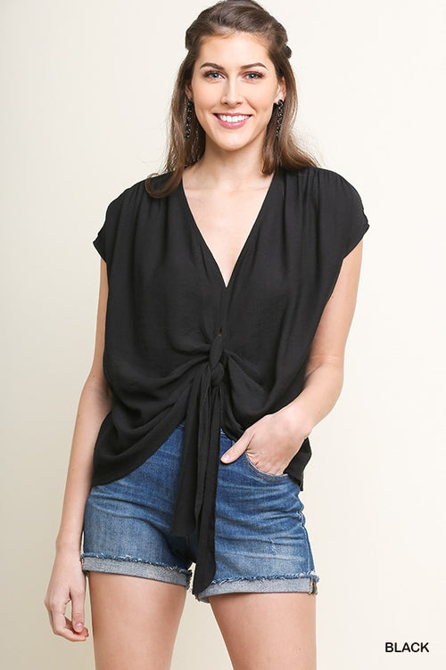 Manitou Double Tie Top in Black