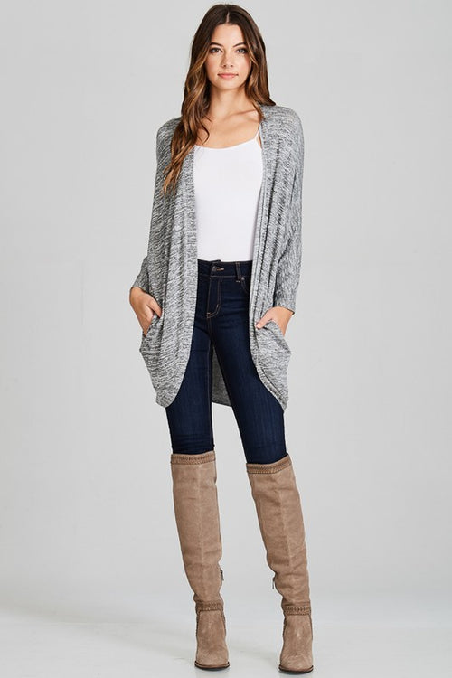 Marbled Grey Love Cardi