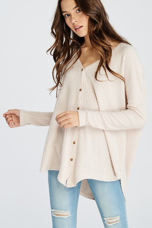 Taupe Thermal Cardigan