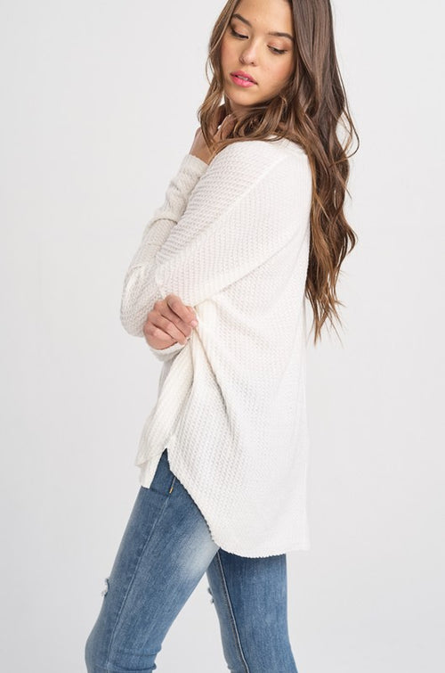 Ivory Thermal Cardigan