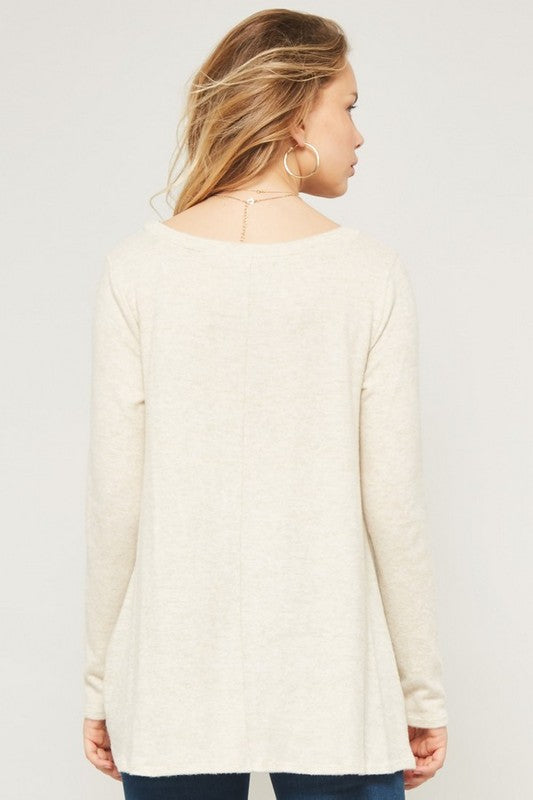 Cream Twisted Sweater