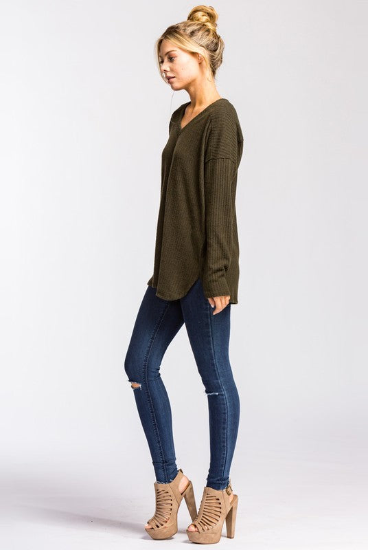 Olive Soft Thermal Tunic