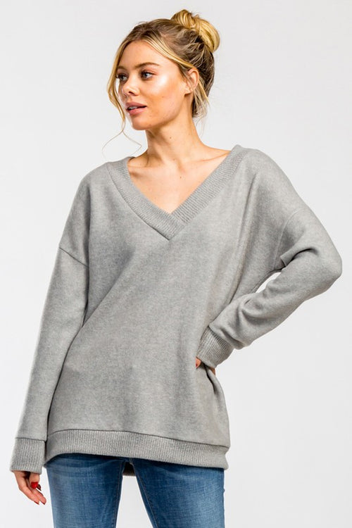 Grey Cloud V Sweater