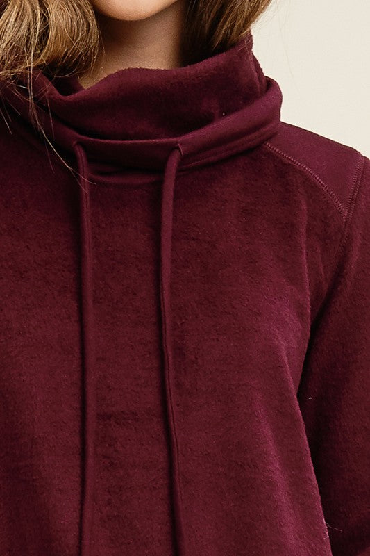 Burgundy Soft Cowl Pullover