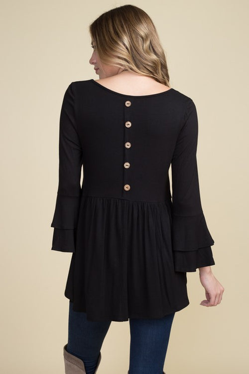 The Charlotte Button Black Top
