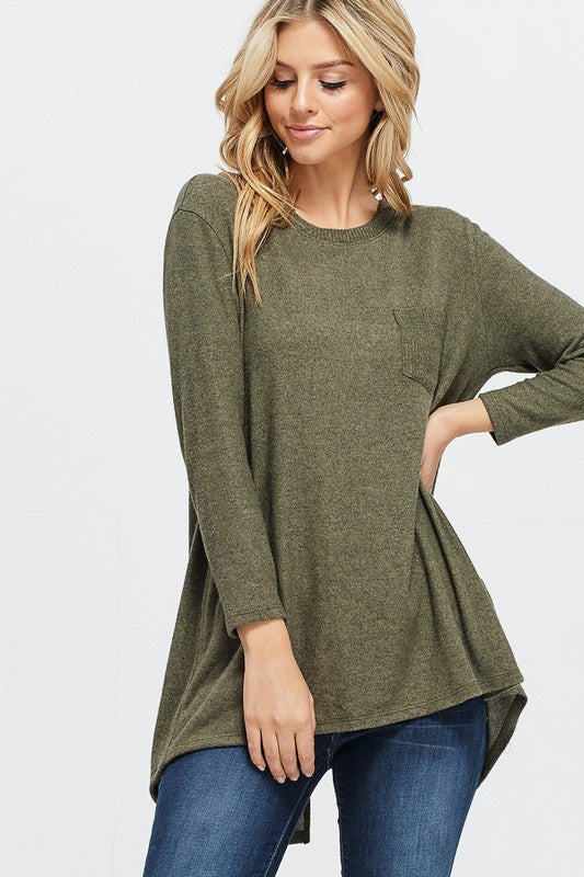 Dallas Pocket Top in Olive