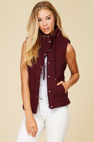Oatmeal Hacci Puffy Vest