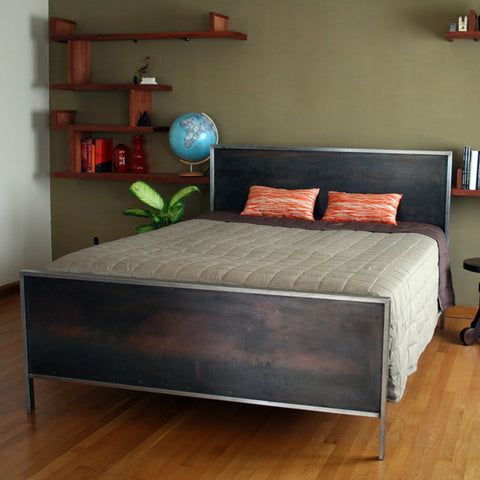 Steel Panel Bed Queen Size