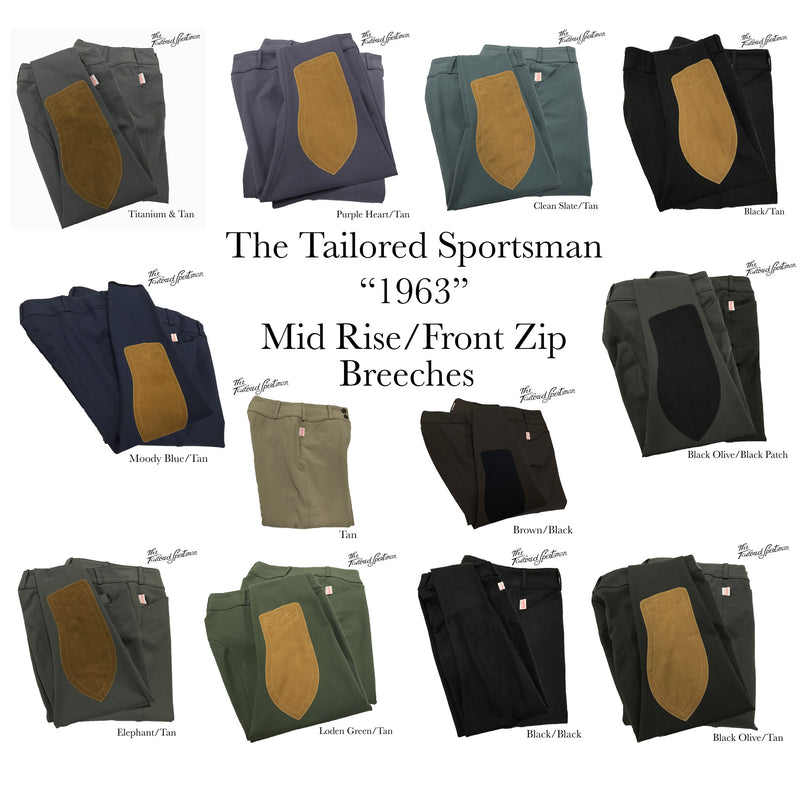 Tailored Sportsman 1963 Trophy Hunter Front Zip Mid Rise Breeche