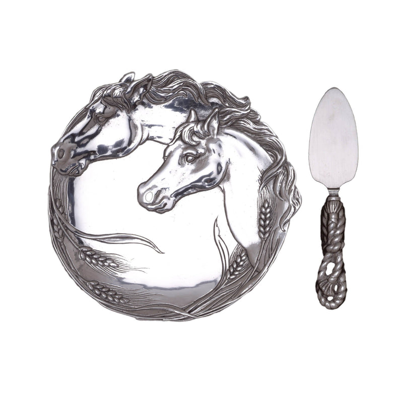 Arthur Court Horse Plate With Server