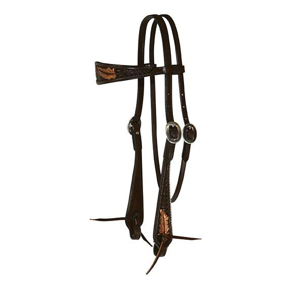 Circle Y Headstall Sharon Camarillo Feather