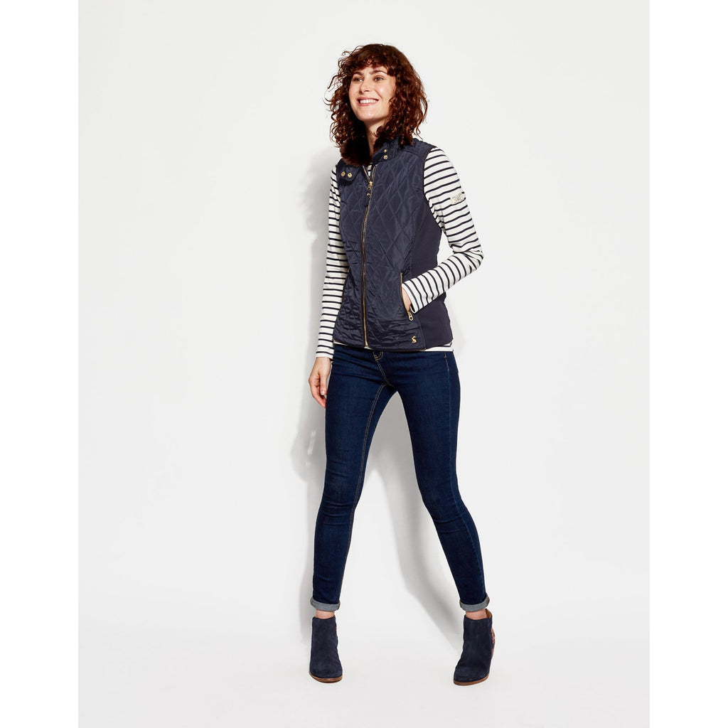 Joules Inverness Vest with Faux Fur Collar
