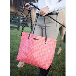 Paul & Lydia Zipper Tote Orange Bits