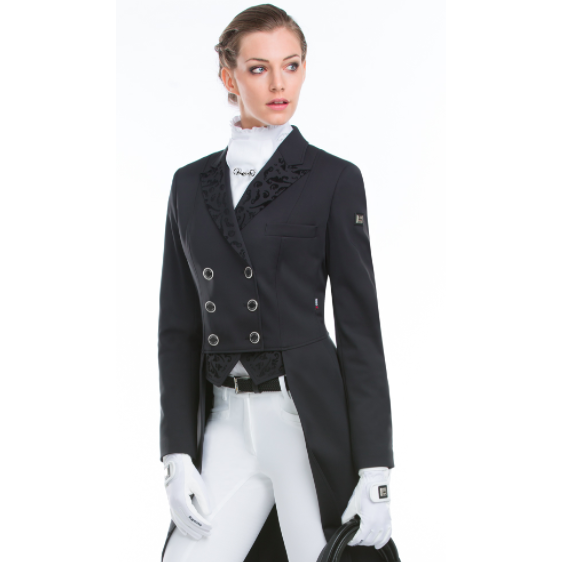 Equiline Flossie Tail Coat With Velvet Trim