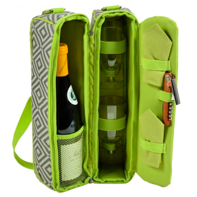 Picnic At Ascot Sunset Wine Tote Diamond Granite