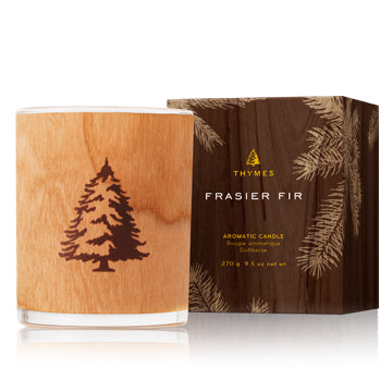 Thymes Frasier Fir Wooden Wick Poured Candle