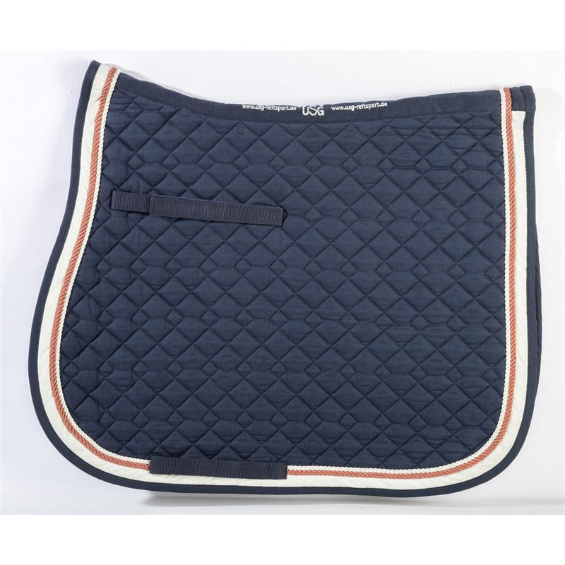 USG A/P Saddle Pad - Navy/Cognac