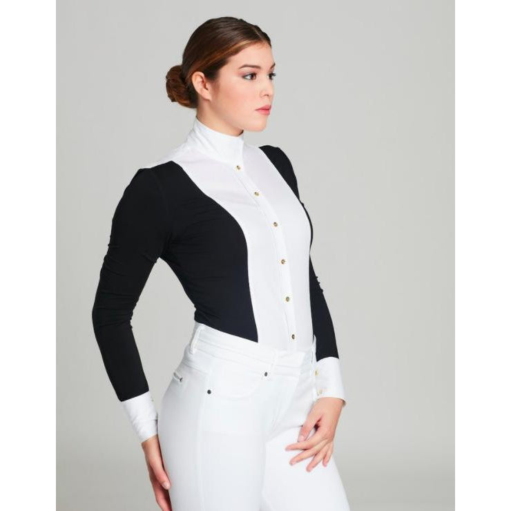 Le Fash Tuxedo With Gold Button Shirt
