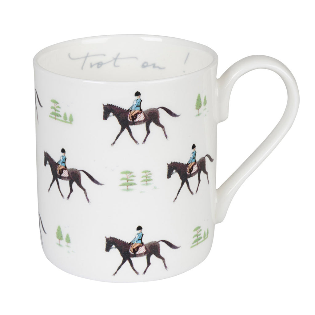 Sophie Allport Large Horse Mug-Trot On