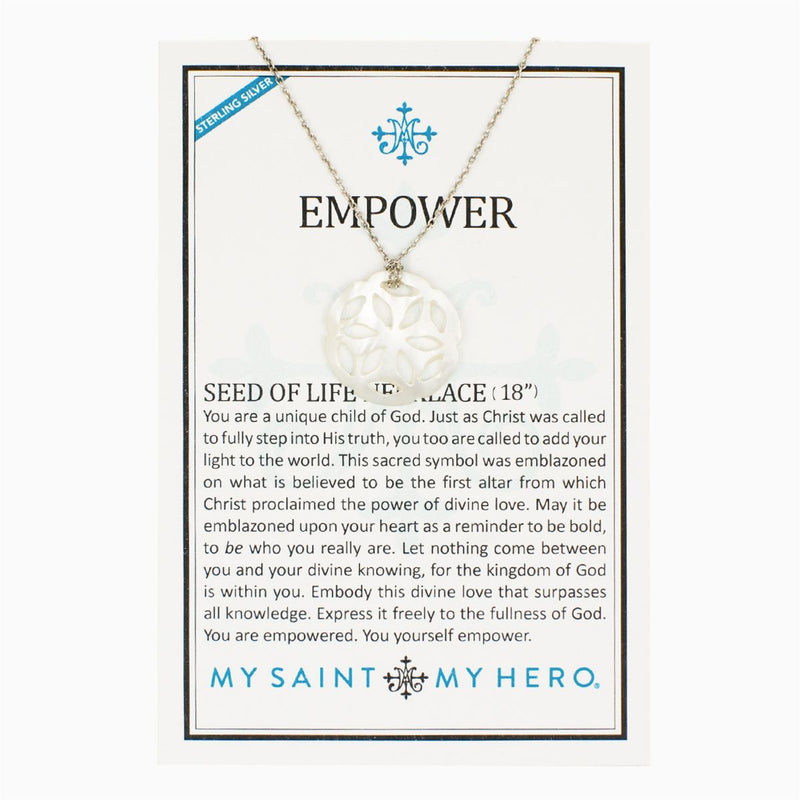 My Saint My Hero Empower Seed Of Life Necklace
