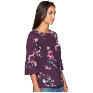 Joules Frances Fluted Sleeve Top
