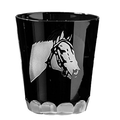 TC Horse Glasses Etched