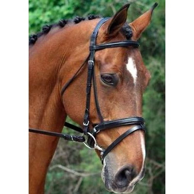 Red Barn Volte Bridle w/ Wht Pd Crwn