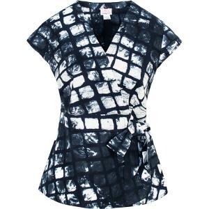 Batik Wrap Blouse - Tiles Black-Top-Aware... the social design project