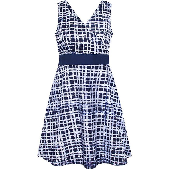 Emi Dress in Navy Plaid-Aware... the social design project