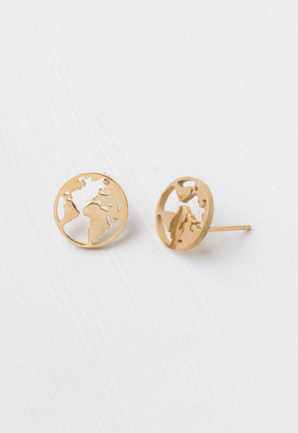 Starfish Project - The Gold World Stud Earrings-Earrings-Aware... the social design project