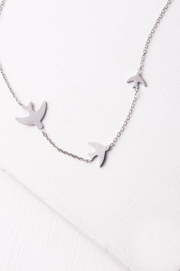 Starfish Project - Birds Flying Necklace-Necklace-Aware... the social design project