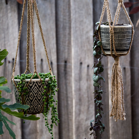 Lark Shika Bangala with a Bamboo Hoop with Tassel-Macrame-Aware... the social design project