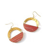 Desert Clay Swirl-Earrings-Aware... the social design project