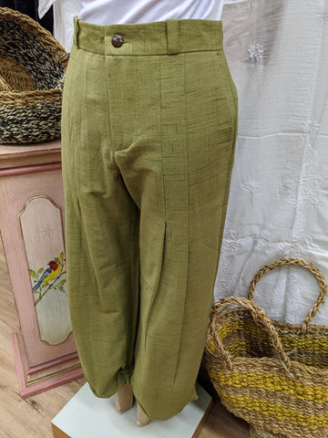 Tailored Ikat Pant - Green