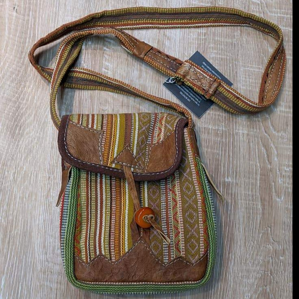 Hand Woven Nepal Bag V2- Earthy Green-bag-Aware... the social design project