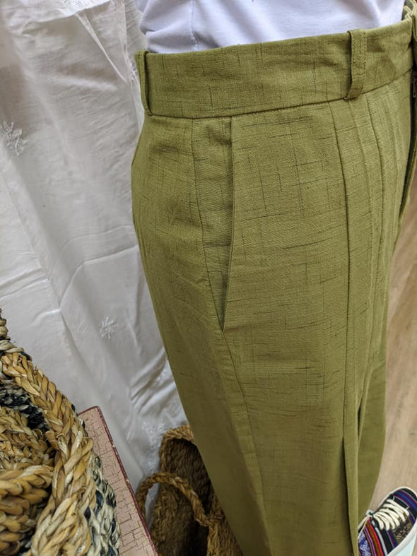 Tailored Ikat Pant - Green-Pant-Aware... the social design project