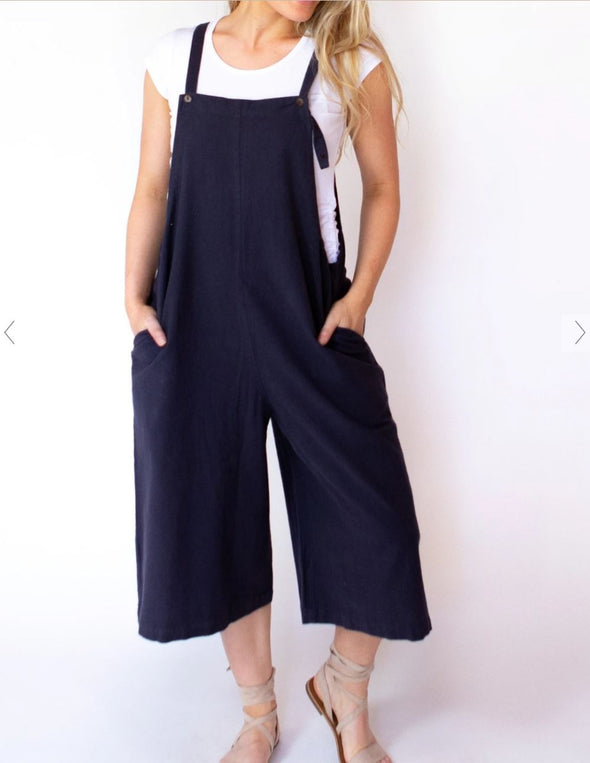Market 3/4 overalls -Blue , Oat, Wine and Black (One size fits most )