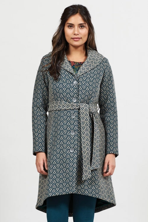 Handloomed Collar Coat