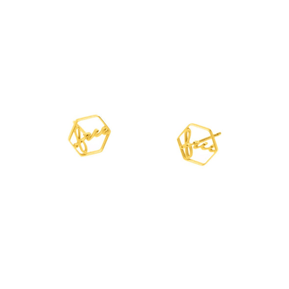 Time For Freedom Earrings - Gold or Stainless Steel