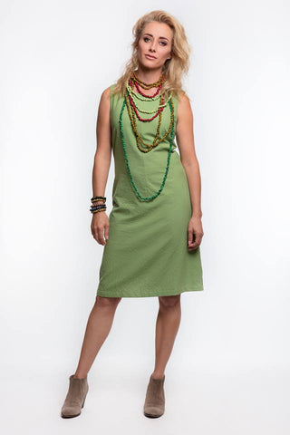 Mod Dress - Green - Hand loomed
