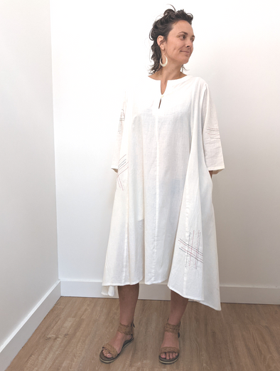 The Flow Dress - Undyed Khadi