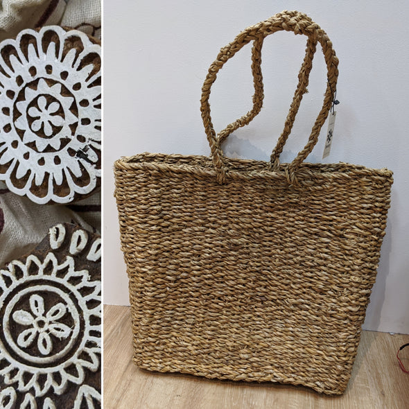 Sea Grass Rectangle Tote - The Artists Basket-Basket-Aware... the social design project