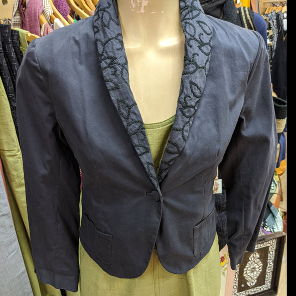 Hand Embroidered Jacket - Charcoal-Jacket-Aware... the social design project