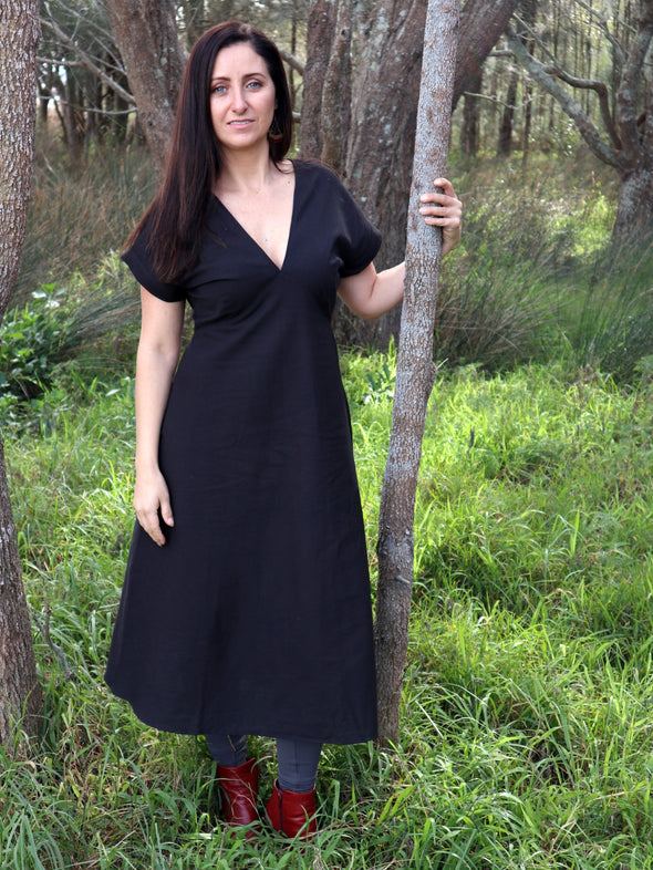 Boho Black Dress-Dress-Aware... the social design project