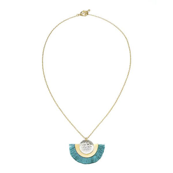 VITANA COSMOS NECKLACE - TEAL-Necklace-Aware... the social design project