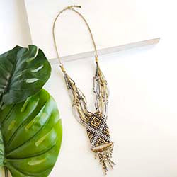 Woven Metallic Necklace