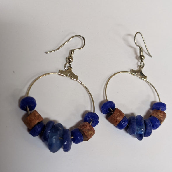 Down to Earth Earrings Blue or White